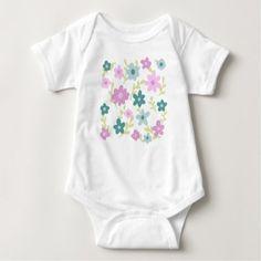 Elegant floral garden baby bodysuit - purple floral style gifts flower flowers diy customize unique