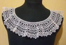 Tatting ! lace Collar. Handmade 100% !!! Vintage Style Hand Tatting Lace Cotton  in Рукоделие, Самодельные и готовые предметы, Вышивание и рукоделие, Фриволите и позументы   eBay