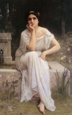 Meditation 1899 realistic girl portraits Charles Amable Lenoir art for sale at Toperfect gallery. Buy the Meditation 1899 realistic girl portraits Charles Amable Lenoir oil painting in Factory Price. William Adolphe Bouguereau, Classic Paintings, Old Paintings, Beautiful Paintings, Contemporary Paintings, Lenoir, Renaissance Kunst, Pre Raphaelite, Classical Art