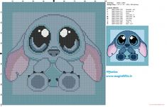 Designing Your Own Cross Stitch Embroidery Patterns - Embroidery Patterns Tiny Cross Stitch, Beaded Cross Stitch, Cross Stitch Animals, Cross Stitch Charts, Cross Stitch Embroidery, Lelo And Stitch, Lilo Et Stitch, Disney Cross Stitch Patterns, Cross Stitch Designs