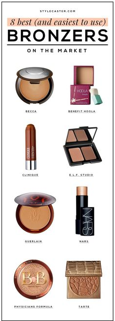 The 8 Best Bronzers Money Can Buy   We tested them all, and these bronzing products surpassed all others based on ease of use, color-to-shimmer ratio, and how natural they look on your face. You'd be surprised that even a few drugstore buy's made the list—the E.L.F. Studio contour + bronzing duo will only set you back $3! Read our reviews to figure out which is best for you. @stylecaster