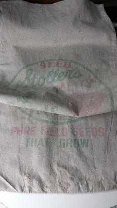 Vintage Seed Sack Grain Sack Feed Bag by ElisabethMacBeth on Etsy, $12.00