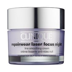 Shop Clinique's Repairwear Laser Focus Line Smoothing Cream Broad Spectrum SPF 15 for Very Dry to Dry Combination Skin at Sephora. Oily Skin Care, Skin Care Tips, Dry Skin, Skin Tips, Best Night Cream, Cream For Oily Skin, Skin Cream, Skin Care Routine For 20s, Skincare Routine