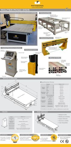 Router Cnc 3050x2000x300mm Pcnc-31s15 Patagonia Cnc Machines - $ 550.800,00