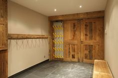 Chalet Ajacour Ski and Boot Room Room Above Garage, Drying Room, Courchevel 1850, Luxury Ski Holidays, River Camp, Whistler, Mudroom, Skiing, Cottage