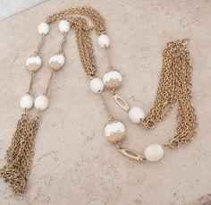 Your place to buy and sell all things handmade Jewelry Gifts, Gold Jewelry, Vintage Jewelry, Vintage Necklaces, Layered Necklace, Tassel Necklace, Long Layered, Necklace Online, Vintage Gifts