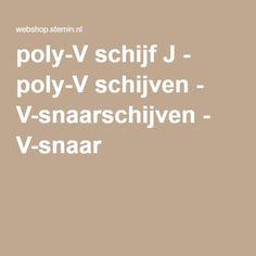 poly-V schijf J - poly-V schijven - V-snaarschijven - V-snaar