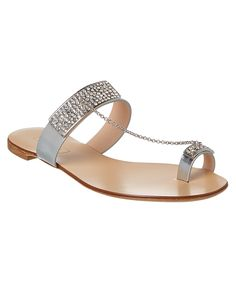 CASADEI Casadei Embellished Metallic Leather Sandal'. #casadei #shoes #sandals