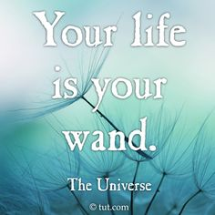 Your life is your wand.  You create your own magic.