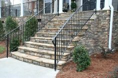 I'd love to have steps like this in front of my house. I think the steps would be longer and deeper in the ground.