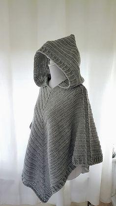 Crochet pattern hooded poncho