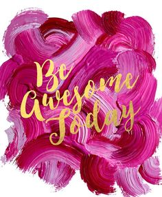 Love this! I adore the design, the color and the lettering! It would make perfect office decor!