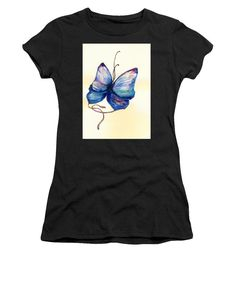 5ad4efde Butterfly T Shirt - featuring painting of an amateur artist Medea  Ioseliani, beautiful and affordable