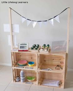 DIY Market Stand for Kids IKEA Hack Ikea kids play hack Play ideas for toddlers preschool kindergarten Play-based learning imaginative play dramatic play role-play Australian teachers Source by misslizzyfox fashion ideas for kids # Play Kitchens, Hack Ikea, Play Hacks, Hacks Diy, Diy Hanging Shelves, Market Stalls, Play Based Learning, Imaginative Play, Diy For Kids
