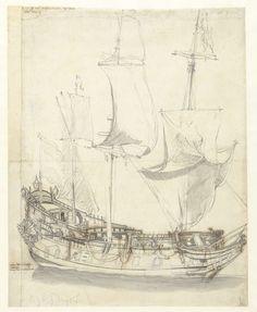 Schip de Princesse Royale van vice-admiraal Witte de With, Willem van de Velde (I), 1621 - 1693