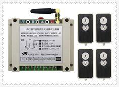 DC12V 24V 36V 48V 10A 2CH RF Wireless Remote Control Switch System 4 transmitter and 1 receiver universal gate remote control #Affiliate