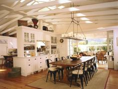 Country style kitchen in white