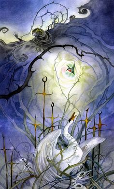 stephanie_law_tarot_minor arcana_swords_08_eight of swords.jpg (967×1600)