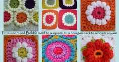 HOW AN IDEA DEVELOPED   from a square to a hex and back to a square again     l know there are a lot of the flower granny squares out th...