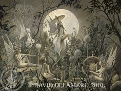 The Spinning Web (Unframed Signed 32x24 Giclée Print) Fairy Art  by David Delamare. $100.00, via Etsy.