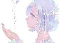 Картинка с тегом «anime, anime girl, and blue»