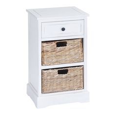 Store towels, books, blankets, clothes and much more in this beautiful 2-basket storage cabinet.