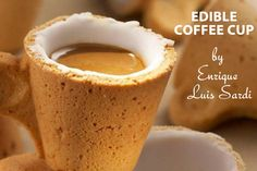 Edible Coffee Cup  http://www.rogersfamilyco.com/index.php/5-very-unique-and-creative-coffee-mug-designs/
