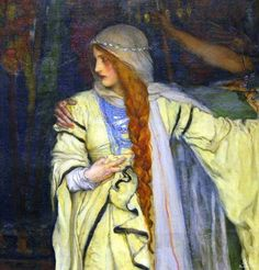 """Edwin Austin Abbey -- Cordelia, detail from """"The Daughters of King Lear,"""" 1898 (Metropolitan Museum of Art, New York)"""