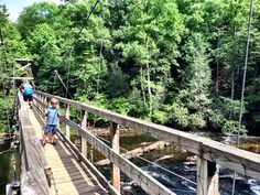 Blue Ridge, GA Swinging Bridge on Toccoa River