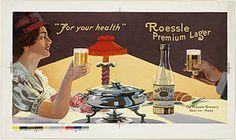 Una Roessle premium lager de finales de siglo XIX