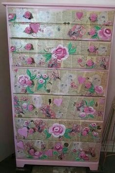 Available! Vintage dictionary pages, hand painted roses n more, handmade rose knobs. Wingedheartart@gmail.com