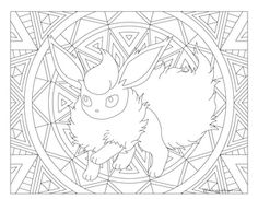 Click to see printable version of Mareep Coloring page LineArt
