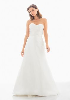7b20190e61 Tendance Robe du mariage 2017 2018 - Silk Shantung Modified A-Line Dress  with Draped Strapless Bodice. Judd WaddellSilk ...
