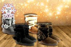 Pom Pom Snow Boots - 4 Colours