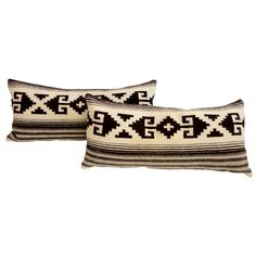 I love the geometric design of these Indian Weaving Bolster Pillows Geometric Design