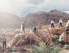South Nevada Boho Elopement - Inspired By This