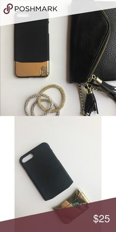 iPhone 7 Plus Case Black & Gold Case, used for a week ❤️ Accessories Phone Cases