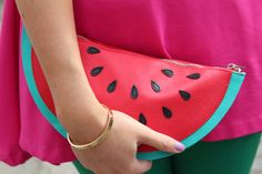 Watermelon clutch.