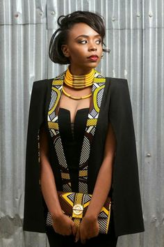 Outstanding Cape Blazer by Nana Wax Are you looking for African inspired Fashion? You should check out the beautiful and outstanding Cape Blazer by Nana Wax. African Dresses For Women, African Print Dresses, African Attire, African Fashion Dresses, African Wear, African Women, African Prints, African Style, Ankara Fashion