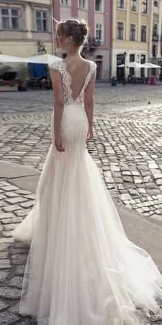 Riki Dalal Wedding Dresses 2018 - Shakespeare Collection ❤ riki dalal wedding dresses mermaid lace open back with caps sleeves style lady macbeth ❤ Full gallery: https://weddingdressesguide.com/riki-dalal-wedding-dresses/ #bridalgown #weddingdresses2018 #wedding #bride