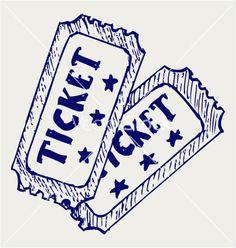 Cinema ticket vector 1107172 - by kreatiw on VectorStock®