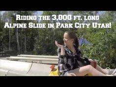 Riding the 3,000 ft. long Alpine Slide in Park City Utah!
