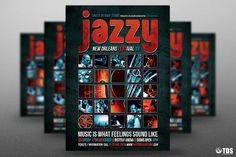 Jazz Festival Flyer Template V9 by Thats Design Store on @creativemarket