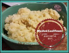 Mashed Cauliflower #Vegan #EasyRecipe