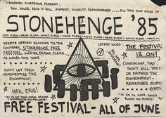 Stonehenge free festival - 1985- The Battle Of The Beanfield.