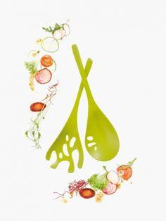 »SHADOW #Salatbesteck:  Ungewöhnlich ursprünglich, offenbarend organisch: Nur zu gerne lassen sich die frischen, grünen Blätter vom SHADOW Salatbesteck von #Koziol mit dem #Dressing vermischen. Seine Form wirkt wie naturgewachsen, die Handhabung ist intuitiv. Die durchbrochenen Strukturen lassen ein Zuviel an Sauce elegant ablaufen, und angesichts der gefühlvoll konturierten Stiele wandert die Begeisterung für das SHADOW Salatbesteck von den Augen direkt in die Fingerspitzen.