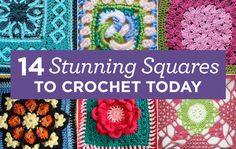 14 Stunning Squares To Crochet Today   Top Crochet Pattern Blog