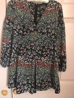 e5b4f816bd Zara Ditsy Flowered Playsuit Size M  fashion  clothing  shoes  accessories   womensclothing