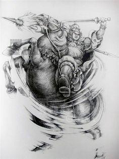 Hình xăm Triệu Tử Long- Triệu Vân dũng tướng đẹp Horse Tattoo Design, Tattoo Designs, Samurai Tattoo, Old School, Horses, Abstract, Artwork, Oriental, Style