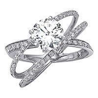 1.00 ct. t.w. Criss-Cross Round Diamond Engagement Ring in 14k White Gold (H-I, I1) - Sam's Club